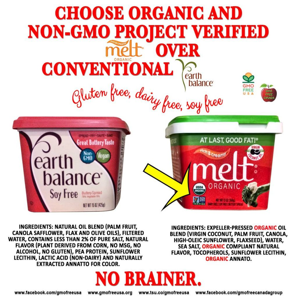 MELT Organic is Soy Free, Dairy Free, Gluten Free, NON-GMO Project Verified