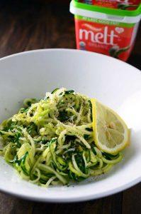 MELT Organic lemon parmesan zucchini noodles